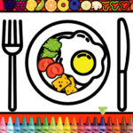 Coloration and Embellish Dinner Plate