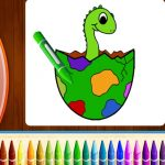 Dinosaurs Coloring Information Half I