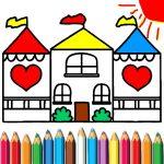 Doll House Coloring E-book