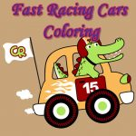 Fast Racing Autos Coloring