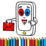 Cellular Cellphone Coloring E-book