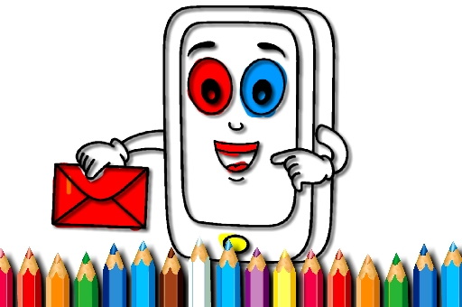 Image Cellular Cellphone Coloring E-book