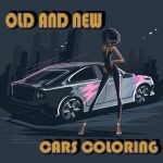Earlier And New Automobiles Coloring