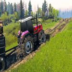 Precise Chain Tractor Towing Apply Simulator