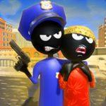 Stickman Police VS Gangsters Avenue Fight