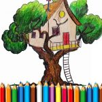 Tree Residence Coloring E guide