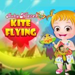 Youngster Hazel Kite Flying