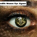 Crocodile Girls Eye Jigsaw