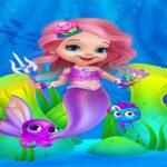 Cute Mermaid Woman Gown Up