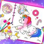 Fabulous Cute Unicorn Coloring E-book