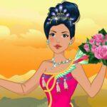 Native American Princess Marriage ceremony ceremony Robe up
