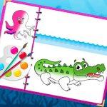Sea Creatures Coloring E-book