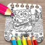 Sponge on the Run Coloring E book