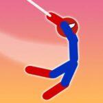 Tremendous Hero Flip: Spider Stickman Hook