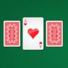 Three Enjoying playing cards Monte